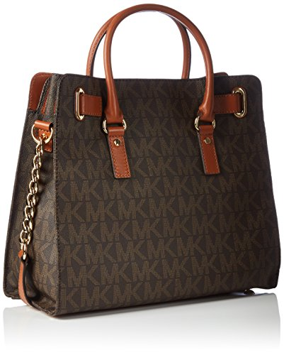 01dce8bf8db09 Amazon.com  Michael Kors Womens Textured Signature Tote Handbag Brown  Large  Michael Kors  Shoes