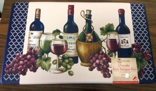 The Pecan Man wine and Grapes ANTI-FATIGUE NON SLIP FLOOR MAT PVC Foam ,1Pcs 18x30