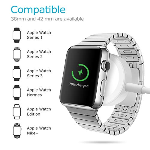 Apple Watch Charger, iWatch Charger Replacement Charging Cable,Magnetic Wireless Portable Charger Pad 3.3 ft/1.0m Charging Cable Cord Compatible with Apple Watch Series 3 2 1 for All 38mm 42mm iWatch