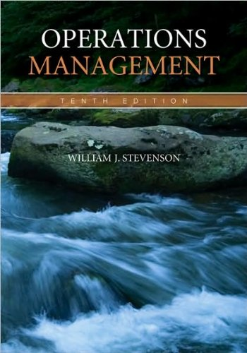 byWilliam Stevenson Operations Management w Student OM Vid Srs DVD (McGraw-Hill/Irwin Series Operations and Decision Sciences) (text only)10th (Tenth) edition[Hardcover]2008 PDF