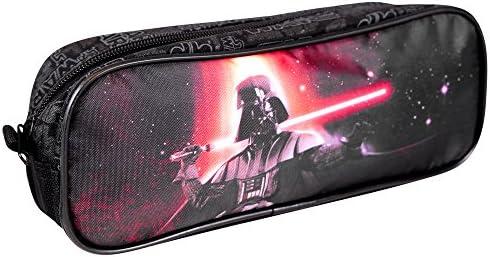 PERLETTI 13800 Estuche Escolar Niño Star Wars - Bolsa para Lapices Estampado Darth Vader - Neceser Portatodo Escuela Viaje La Guerra de las Galaxias - Negro - 8x23x6 cm: Amazon.es: Juguetes y juegos
