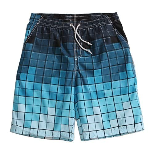 9913cd3a737ad lovely MaaMgic Mens Printing Quick Dry Beach Board Shorts Swim Trunks With Mesh  Lining