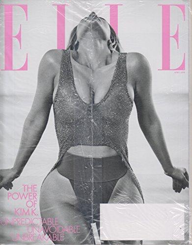 Elle April 2018 The Power of Kim Kardashian (B&W Cover)
