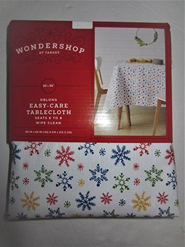 Wondershop Christmas Snowflakes Tablecloth - 60 in x 84 in