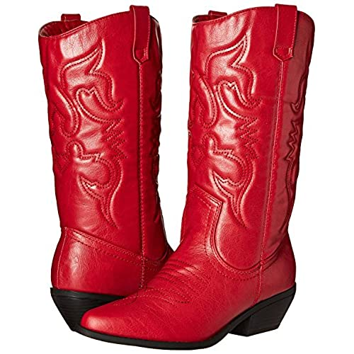 af756a6b137 Soda RENO-S Women's Western Cowboy Pointed Toe Knee High Pull On ...