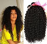 Jaycee Hair Unprocessed Brazilian Curly Wave Human Hair 100% Remy Hair Weave 3 Bundles Natural Black 8″ 10″ 12″ Inch100g(+/-5g)/piece For Sale