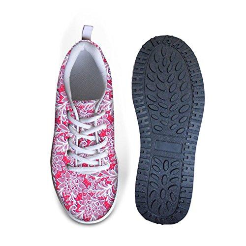 Dellukee Walking Sneakers Ligero Lindo Cómodo Zapatillas De Deporte Clásico Para Mujer Rojo