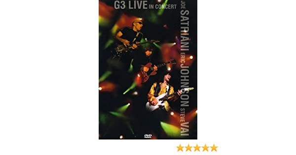 G3: Live In Concert [DVD]: Amazon.es: Joe Satriani, Eric ...