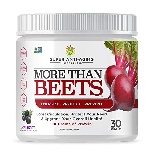 Super Anti-Aging Nutrition- More Than Beets- Concentrated Beet-Root Powder Supplement for Men and Women, Immune System Boosting Formula, Improves Nitric Oxide, Improves Energy, Improves Joint Health