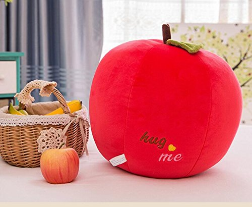 Pinjewelry Home Decoration Soft Toys Apple Doll Sleep Pillow Apple Baby Kids Soft Apple Plush Toy 30cm(Red) by Pinjewelry