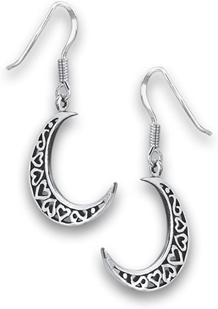 Silver earrings Moon  Sterling silver Moon  Gift for her  Moon jewelry  especially jewelry  Birhtdaygift