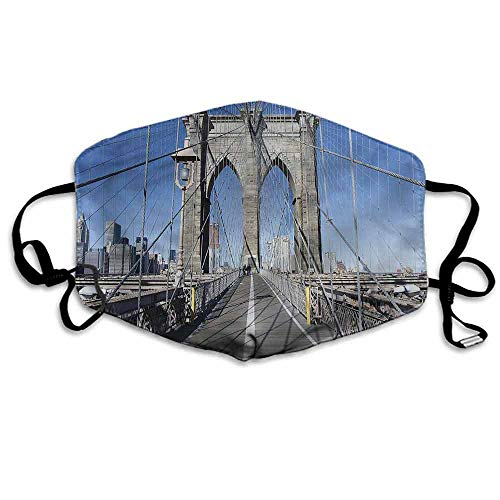 United States Fashion Mouth Mask Brooklyn Bridge NYC for Cycling Camping Travel W4
