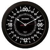 Trintec 24 HORAS hora militar SWL Zulu tiempo 24 horas R reloj de pared 25,4 cm negro esfera