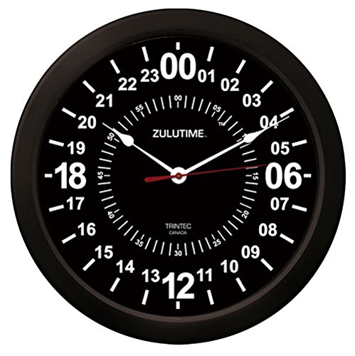 24 Hr Round The Clock - Trintec 24 Hour Military Time SWL Zulu Time 24Hr Wall Clock 10