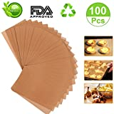 Unbleached Parchment Paper 12 x 16 Kitchens Cookie Baking Sheets Non-Stick Coating Safe for High Temperature Baking 100pcs
