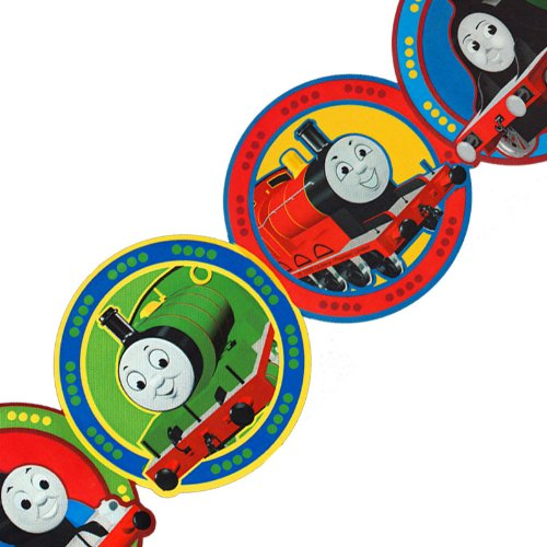 Thomas Train Circles Prepasted Wall Border (Thomas The Train Border)