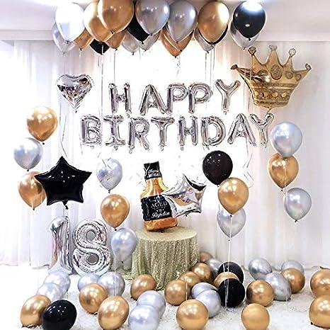 LIZHIOO Conjunto de balón 26pcs / Lot Feliz Cumpleaños 18 De ...