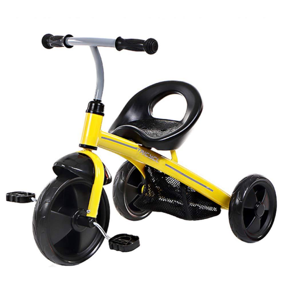 JYY Triciclo per Bambini, Triciclo per Bambini A 3 Ruote, Learning Walker Trainer per Bambini da 1 A 4 Anni,giallo