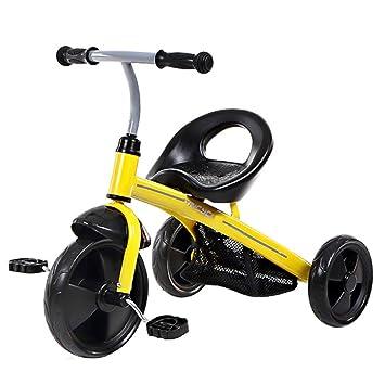 JYY Bicicleta De Triciclo para Niños, Triciclo De 3 Ruedas para Niños Pequeños, Entrenador De Aprendices para Niños De 1-4 Años,Yellow: Amazon.es: Hogar