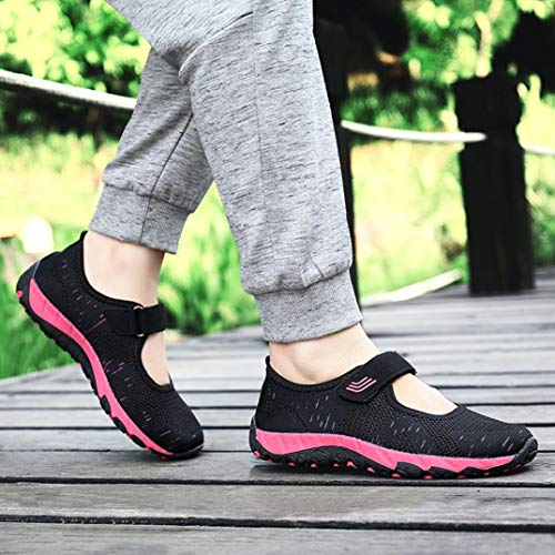 Comfortable Wedges Fashion Black Women Lightweight Mesh Loafers Flying Comfortable New Junior Casual Look Woven Shoes aOpwAaqxg7