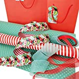 Exclusive Trend Setting Gift Wrapping Set - Tropical Toucan Complete Gift Wrap Set with 2 Gift Bags w/Tags, Ribbons, Wrapping Paper and Tissue Paper, All Occasions (Green)