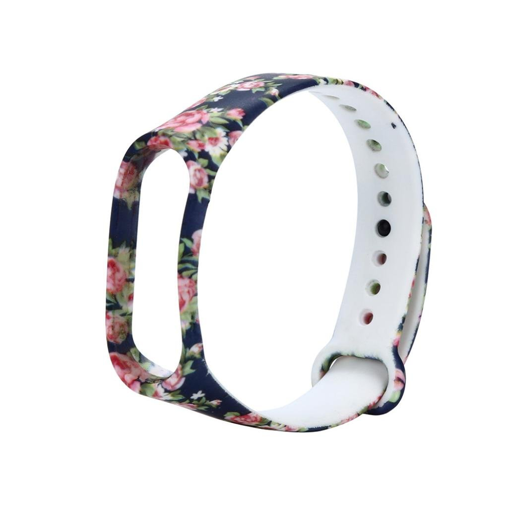 HighlifeS Replacement Silicone Wristband Band Strap For Xiaomi Mi Band 3 Bracelet (D)