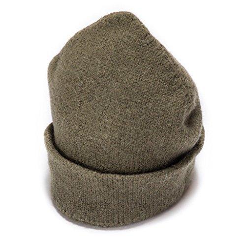 (Dachstein Woolwear 4 Ply Extreme Warm 100% Austrian Boiled Wool Alpine Watch Cap Hat (Military))