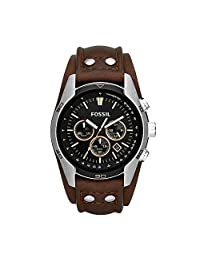 Fossil Men's CH2891 Coachman Chronograph Brown Leather Watch
