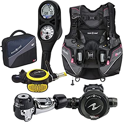 Aqualung Womens Pearl BCD Scuba Package