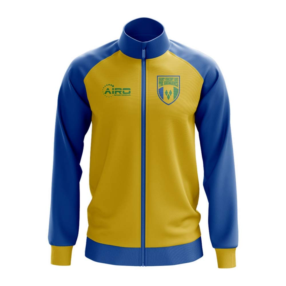 Airo Sportswear Saint Vincent and Grenadines Concept Football Track Jacket (Yellow)