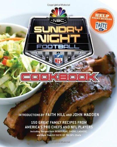 NBC Sunday Night Football Cookbook Hardcover September 2, 2008