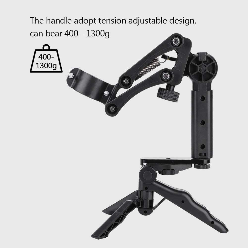 Xinwoer Spring Single Handle,Flexible Damping Handle for Smooth Phone Gimbal Stabilizer