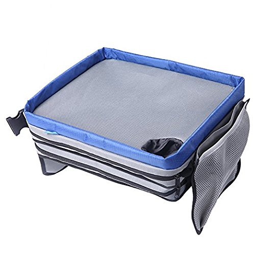 Travel Tray, plceo Kids Car Tray Play Tray Portable Organizer Car Seat Lap Snack Tray Table for Baby Kids Children Road Trips/Air Travel/Journeys plceo-tray