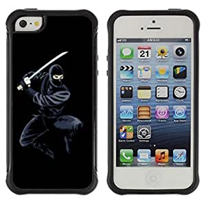 Hybrid Anti-Shock Defend Case for Apple iPhone 5 5S / Cool Ninja