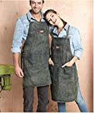 Luchuan Fashionable Cowboy Aprons with Adjustable Bib,Unisex Sleeveless Aprons 32inch by 22inch