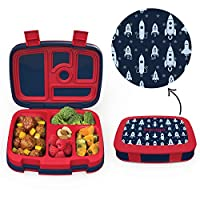 Bentgo Kids Prints - Leak-Proof, 5-Compartment Bento-Style Kids Lunch Box - Ideal Portion Sizes for Ages 3 to 7 - BPA-Free and Food-Safe Materials