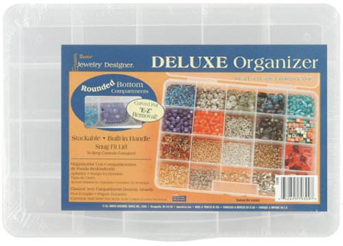 Darice Deluxe Organizer, 20 Craft Storage Spaces for beads Small Parts and Supplies 10.68 x 7.56 x 1.68 -