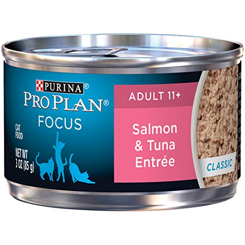Purina Pro Plan FOCUS Classic Entree Adult 11+ Wet Cat Food - (24) 3 oz. Cans