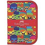 Estojo de Nylon Carinhas, Faber-Castell 18.2216, Multicor