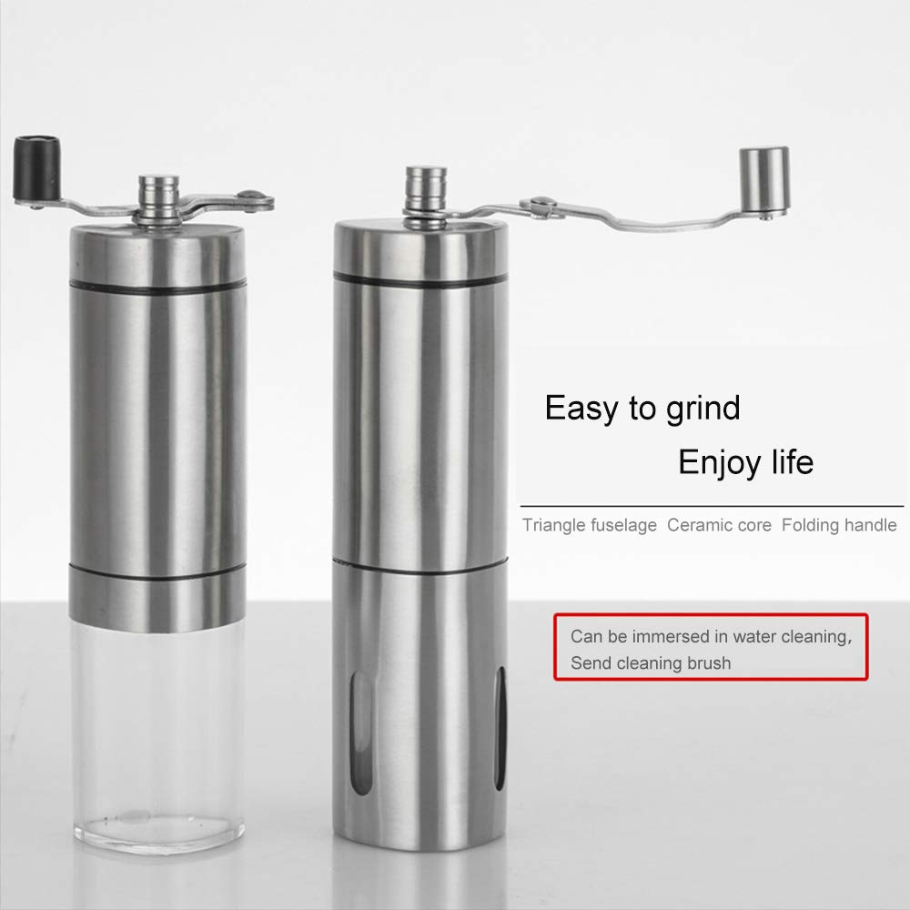 Manual Coffee Grinder, Stainless Steel Hand grinder, Triangle shape with burr coffee grinder, Suitable for French Press, Turkish,Hand-held Mini, K Cup, Family&Travel. by LetGoShop (Image #5)