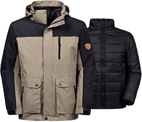 Jacket Replacement Liners (Wantdo Men's Winter Ski Jacket Water Resistant 3-In-1 Jacket Puff Liner)