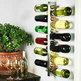 Bar@drinkstuff - Rastrelliera per 12 bottiglie di vino, da parete, in metallo