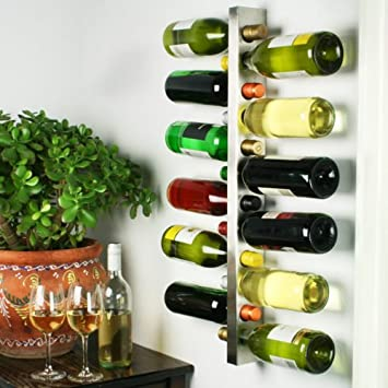 Bar At Drinkstuff Wine Bar Contemporary Wine Rack 12 Bottle Metal Wall