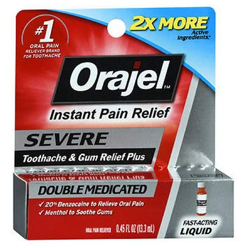 Orajel Maximum Strength Liquid - Orajel Maximum Strength, Liquid 0.45 fl oz per Box (12 Pack)