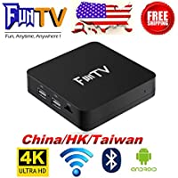 2018 Latest Bluetooth Version of FUNTV Box IPTV Chinese/HongKong/Taiwan/Vietnam Live IPTV Media 4K Streamer Box