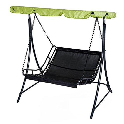 Swing Chair Hammock Bed Seat Adjustable Canopy Cushion Green Outdoor Garden