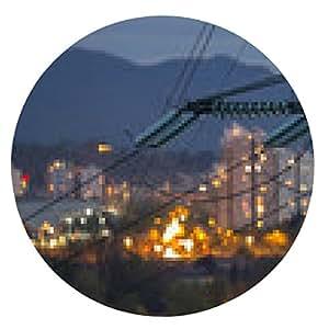 alfombrilla de ratón postes altos de energía Electricidad en zona urbana - ronda - 20cm