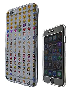 558 - Cool Smiley Faces emoji Funky Funny Design iphone 6 Plus / iphone 6 Plus S 5.5'' Fashion Trend Hard Plastic Case Protective Full Case Front, Back & All Edges Protection Case Cover