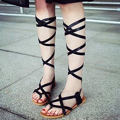 mujer XINRD baja mujer XINRD zapatilla zapatilla negro baja WYRYrqAc