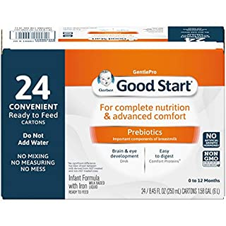 Gerber Good Start Gentle Non-GMO Ready to Feed Infant Formula Stage 1, 8.45 Ounce (Pack of 24)